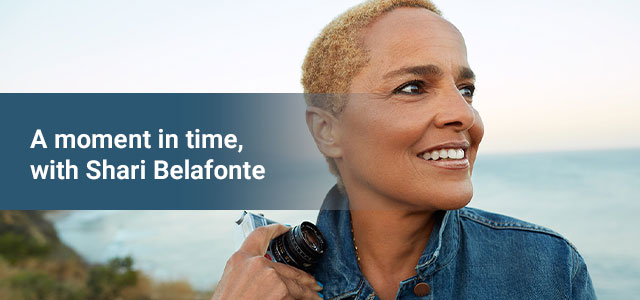 A moment in time, with Shari Belafonte