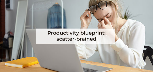 Productivity blueprint: scatter-brained